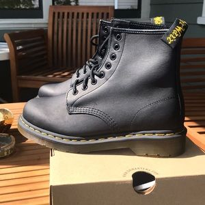 Doc Martens. Never worn, never laced. 1460 Greasy